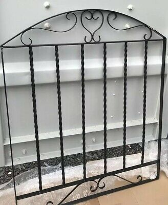 Wrought Iron Metal Arched Scroll Tall Gate 86 Cm X 106 cm garden - Fence Panel