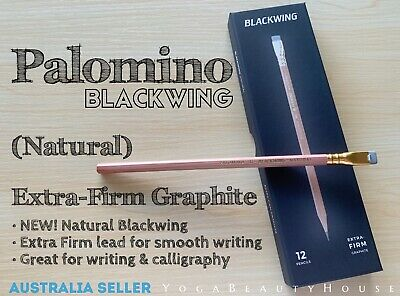 Palomino Blackwing (NEW) Extra-Firm Natural Pencil (calligraphy art draw writing