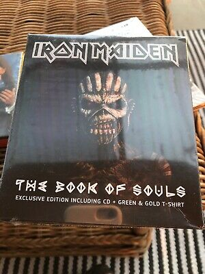 Iron maiden box set exclusive edition with T-shirt book of souls