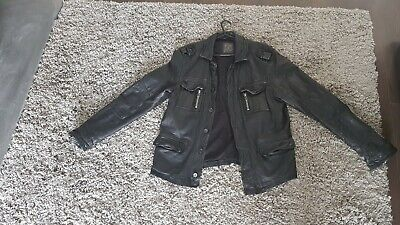 All Saints Mens Leather Jacket Large. Jacks Place. Used in v good condition.