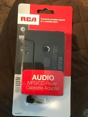 RCA Cassette Adapter for 3.5mm iphone/ipod/mp3 Audio to Car Stereo Deck NEW