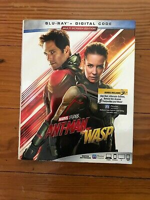Ant-Man and the Wasp (Blu-ray/Digital Code) 2018 Brand New with Slipcover