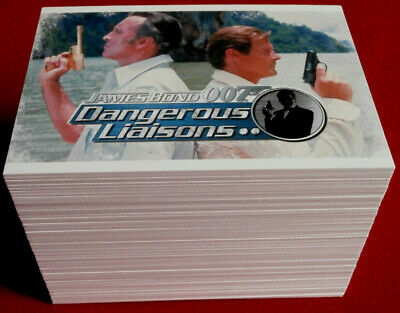 JAMES BOND - DANGEROUS LIAISONS - MASSIVE 110 Card Base Set - RITTENHOUSE 2006