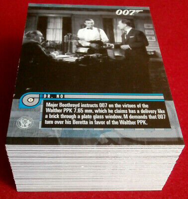 JAMES BOND - MISSION LOGS - COMPLETE 66 Card Base Set - RITTENHOUSE 2011