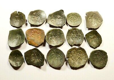 Lot Of 15 Ancient Byzantine Cup Coins - 02