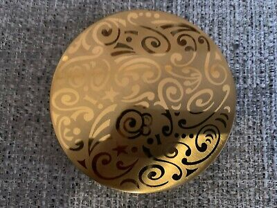 Vintage Stratton Gold Tone Round Make Up Powder Compact Mirror Made in England
