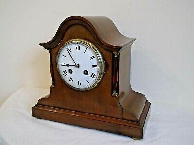 SOLID MAHOGANY 8 DAY MANTLE CLOCK by JAPY FRERES of PARIS +