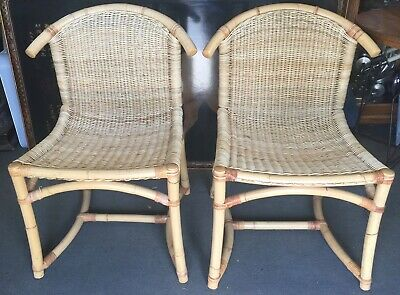 Pair of Vintage Bamboo Side Chairs circa 1940