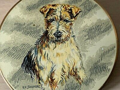 Vintage Stratton Terrier Dog Make Up Powder Compact Mirror Made in England