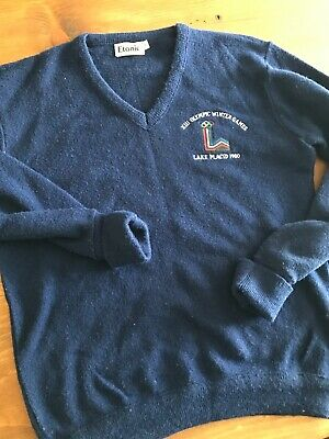 Vintage XIII OLYMPIC WINTER GAMES LAKE PLACID 1980 Etonic Sweater - Size Small