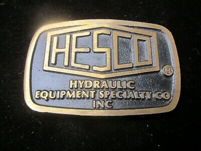 HESCO Hydraulic Equipment Specialty Company VINTAGE belt buckle RARE old truck