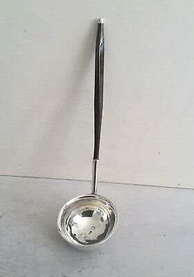 SCOTTISH GEORGIAN CRESTED ANT. SOLID SILVER/ BALEEN TODDY LADLE.   EDIN. c.1800.