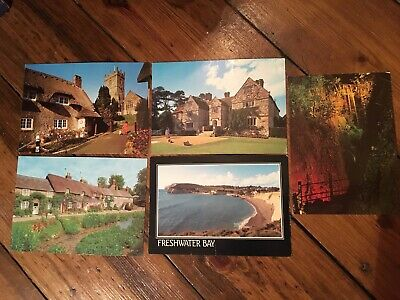 Five Vintage Postcards of the Isle of Wight