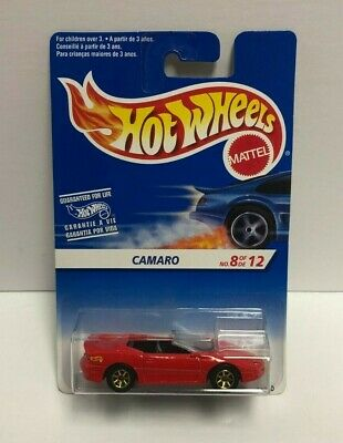 CAMARO 1996 Mattel Hot Wheels diecast 8/12 #13340 ~ RARE Foreign Carded