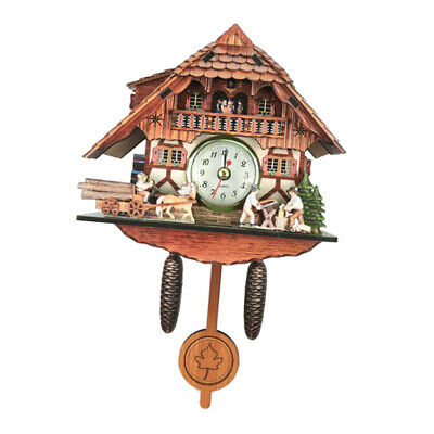 Antique Style Carved Cuckoo Wall Clock Pendulum Clock Craft Art Clock G