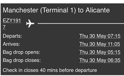 Return Flights for the Champions League Final from Manchester To Alicante