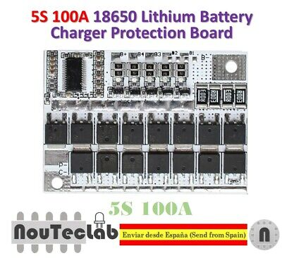 21V 100A 5S BMS Li-ion LMO Ternary Lithium Battery Protection Circuit  4H