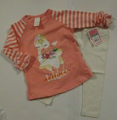 c611c5ce3f6f NEW Baby Toddler Girls 2 Piece Outfit 12 18 2T Pink Tunic Top Leggings Set  Lot