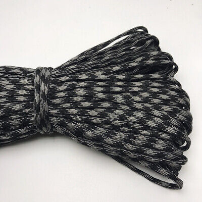 550 Paracord Parachute Cord Lanyard Mil Spec Type III 7 Strand Core 25FT HOT10