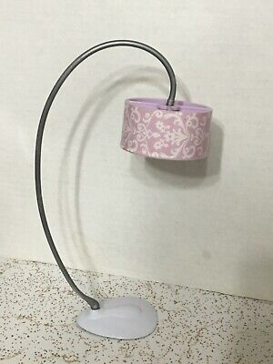 2007 Barbie Doll My Dream House Purple Modern Floor Lamp Glam Office Furniture