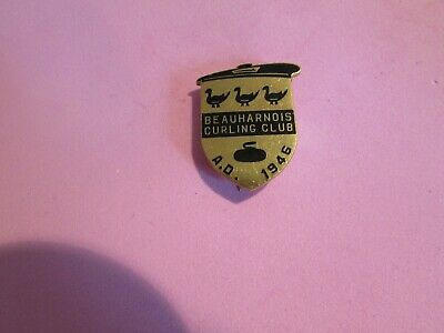 Beauharnois Curling Club A.D. 1946 Pin