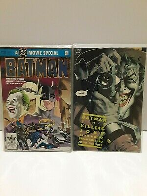 DC Comics - Batman set of 2- The Killing Joke (first printing) & 1989 Movie adap