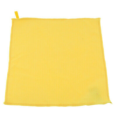 29x29cm Microfibre Cloth Car Detailing Cleaning Polish Duster Towel Yellow