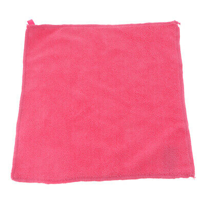 29x29cm Microfibre Cloth Car Detailing Cleaning Polish Duster Towel Pink