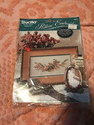 Bucilla Ribbon Embroidery Kit~~ Victorian Spray #40972~~