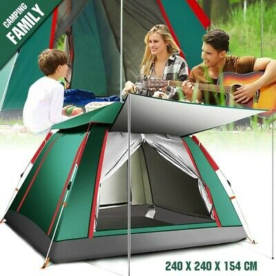 Large Pop Up Tent Camping Tent for Outdoor Hiking Fishing Waterproof 3-4 Person