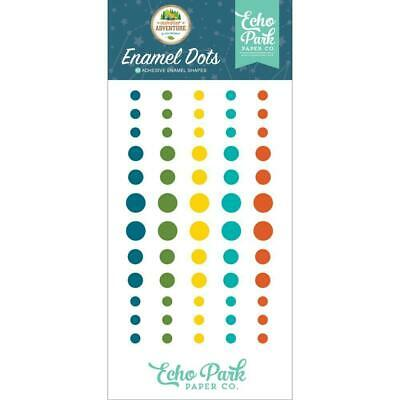 NEW Echo Park Adhesive Enamel Dots 60 pack Summer Adventure