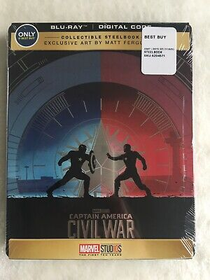 Captain America: Civil War Best Buy Steelbook (Blu-ray, 2018) New Sealed