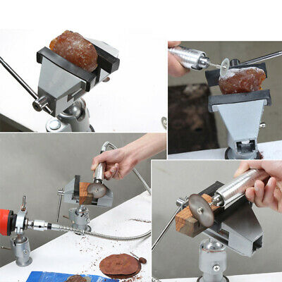 360° Bench Clamp Vises Grinder Holder Drill Stand for Craft / Electronics