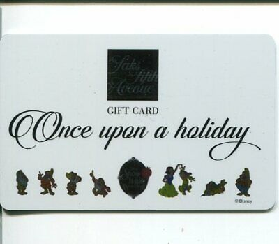 Snow White and the Seven Dwarfs 80th Years Disney Saks Fifth Avenue Gift Card