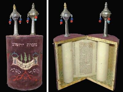 Ancient Small torah scroll complete Book of Deuteronomy Ashkenazi, Germany. 17th