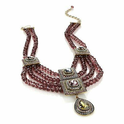 Heidi Daus Beyond Belief Multi Crystal Necklace SWAROVSKI BEAUTIFUL PC 2 ADD WOW
