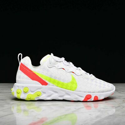 exclusive deals size 40 new images of NIKE REACT ÉLÉMENT 55 Homme Blanc Rouge Jaune Basket UK ...