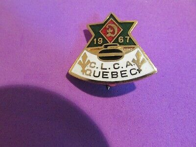 1967 Canadian Ladies Curling Assoc. Centennial Yr. Dominion of Canada Pin