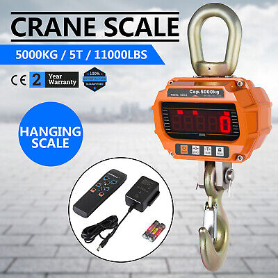 New 5000 Kg Electronic Crane Scales Industrial Hanging Digital Weight