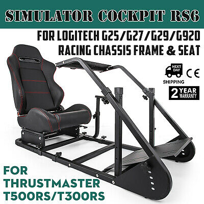 Racing Simulator Cockpit RS6 For Logitech G25 G27 Thrustmaster T500RS T300RS