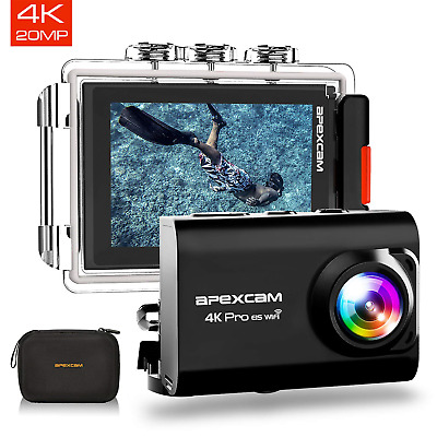 [2019 New] Apexcam Pro EIS Action Camera 4K 20MP WiFi Sports Camera Underwater 2