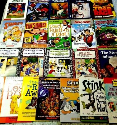 Lot of 22 Childrens Chapter Books 2nd & 3rd Grades Horrible Harry Bailey School