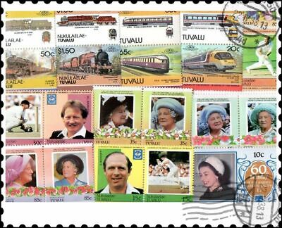Tuvalu : 25 Different Stamps Collection