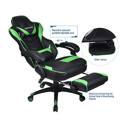 Racing Gaming Chair High Back PU Leather Ergonomic Computer Video Office Chairs