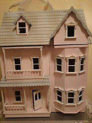 Dolls House with Sylvanian Families &Furniture