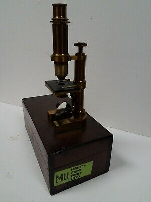 M11 Antique HARTNACK & PRAZMOWSKI Franco-British Microscope PARIS 1870 RARE!!!!