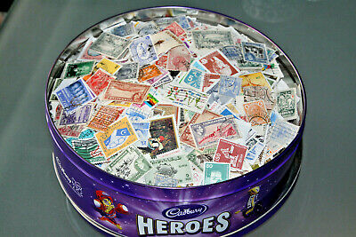 Large World Collection In Sweet Tub - All Off Paper - Apx 10,000 Stamps - M & U