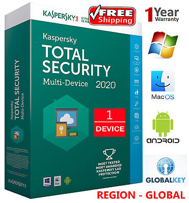 KASPERSKY TOTAL Security 2019  /1 DEVICE /1 Year / GLOBAL - KEY / Download 7.65$