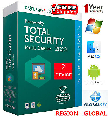 KASPERSKY TOTAL Security 2020 / 2 DEVICE /1 Year /GLOBAL - KEY / Download 10.45$