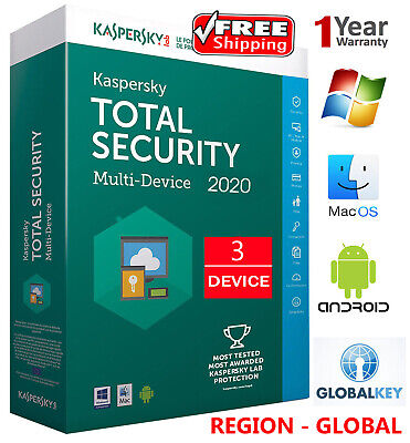 KASPERSKY TOTAL Security 2020 / 3 DEVICE /1 Year /GLOBAL - KEY / Download 15.45$
